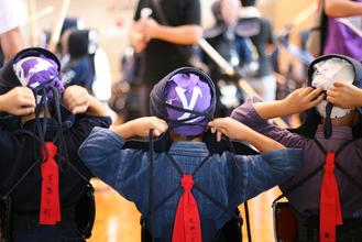 第一回 禅旗争奪少年剣道大会の様子